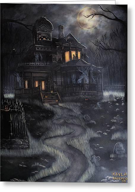 Haunted House Greeting Card by Kayla Ascencio