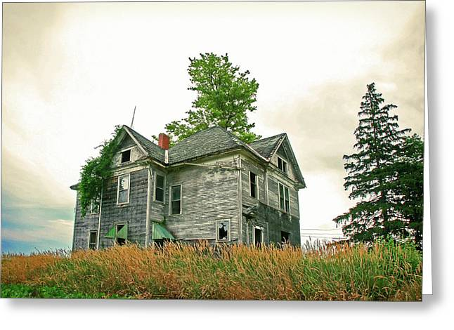 Haunted House Greeting Card by Todd Klassy