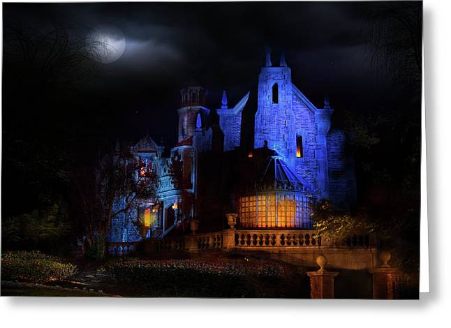 Haunted Mansion At Walt Disney World Greeting Card by Mark Andrew Thomas