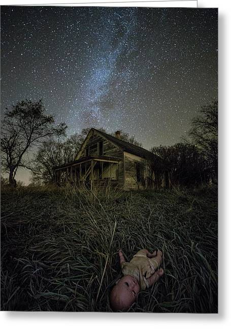 Haunted Memories Greeting Card by Aaron J Groen