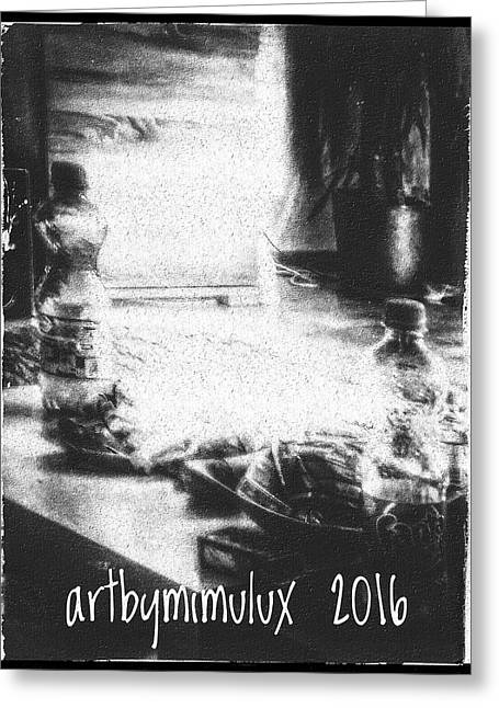 Greeting Card featuring the photograph Haunted Room I by Mimulux patricia no No