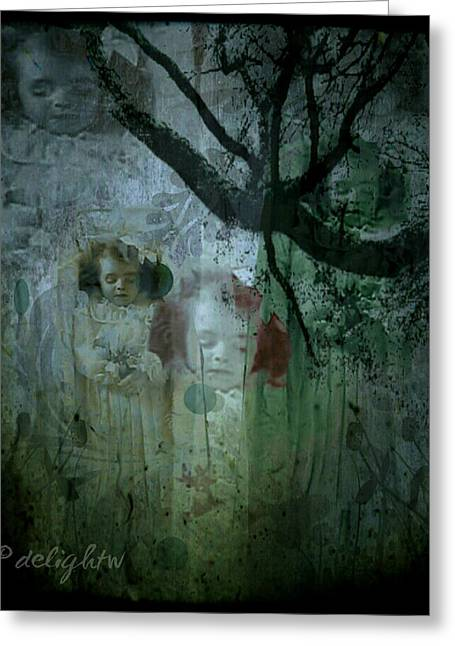 Greeting Card featuring the digital art Haunting by Delight Worthyn
