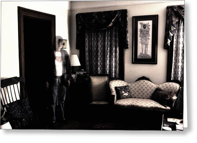 Haunting Myself Greeting Card by Ross Powell