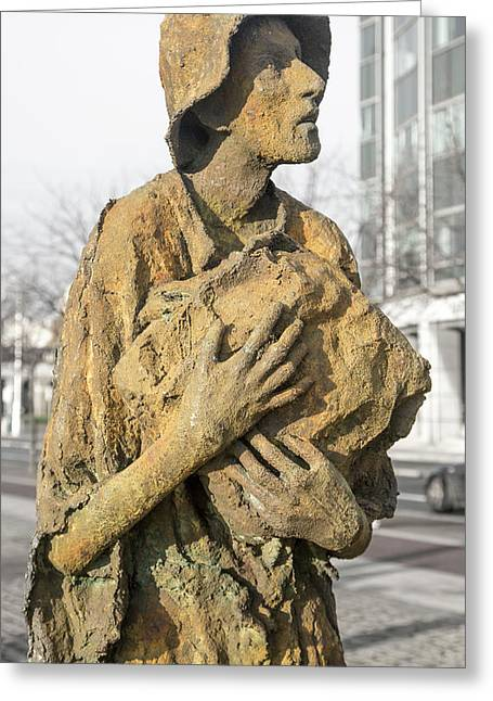 Haunting Reality Famine Memorial And World Poverty Stone Greeting Card