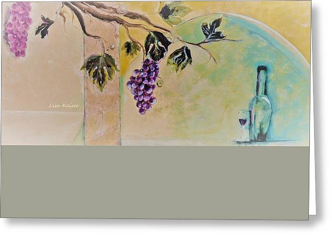 Haunting Wine Distraction Greeting Card by Lisa Kaiser