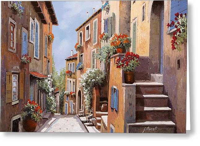 haut de Cagnes Greeting Card by Guido Borelli