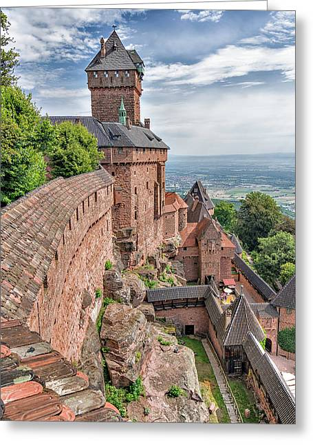 Greeting Card featuring the photograph Haut-koenigsbourg by Alan Toepfer