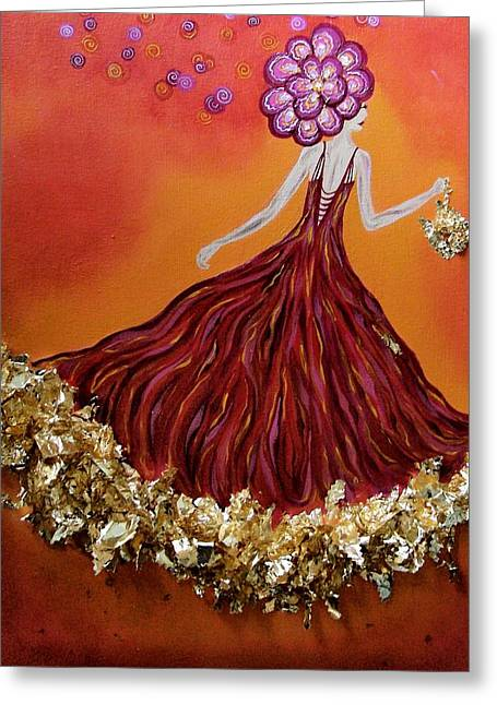 Haute Couture Sunset Greeting Card by Samantha Kulchar
