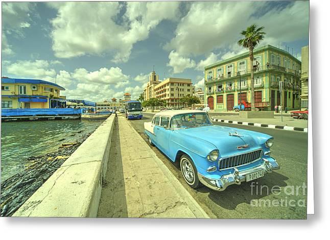 Havana Chevy  Greeting Card by Rob Hawkins