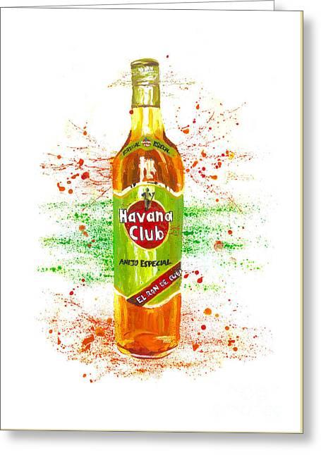 Havana Club Rum Greeting Card by Toby Brown