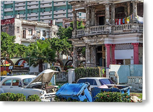 Greeting Card featuring the photograph Havana Cuba by Charles Harden