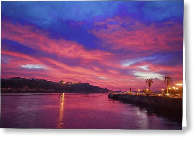 Havana Dawn Painterly Greeting Card