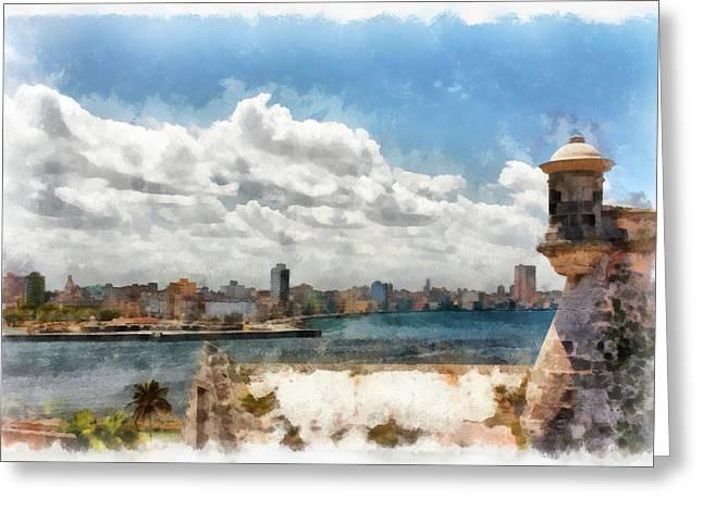Havana From El Morro Greeting Card