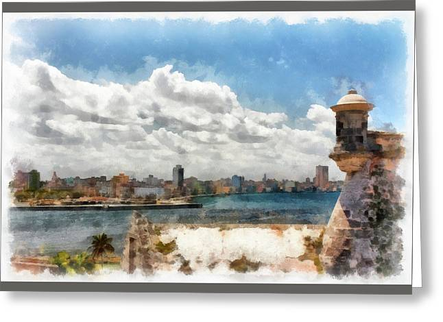 Havana From El Morro Greeting Card