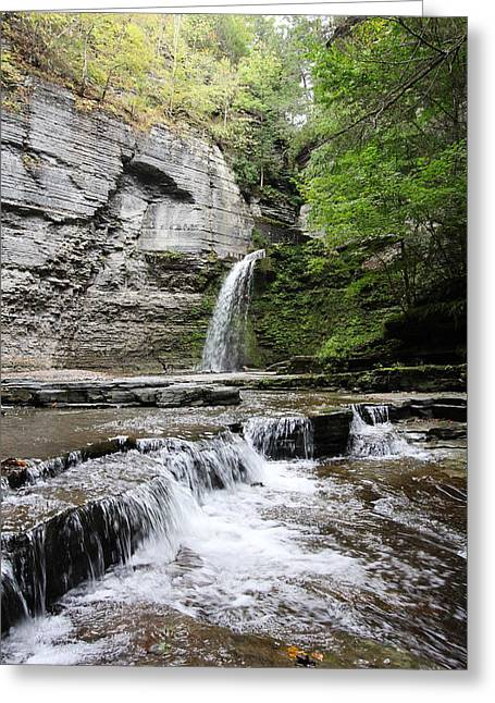 Eagle Cliff Falls II Greeting Card by Trina  Ansel