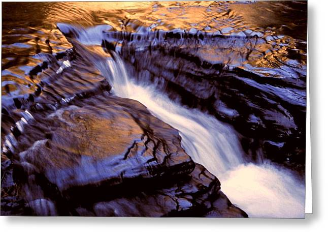 Havana Glen Reflection Greeting Card by Roger Soule