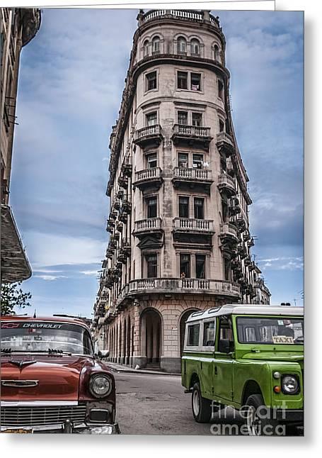 Havana Old Cars Greeting Card