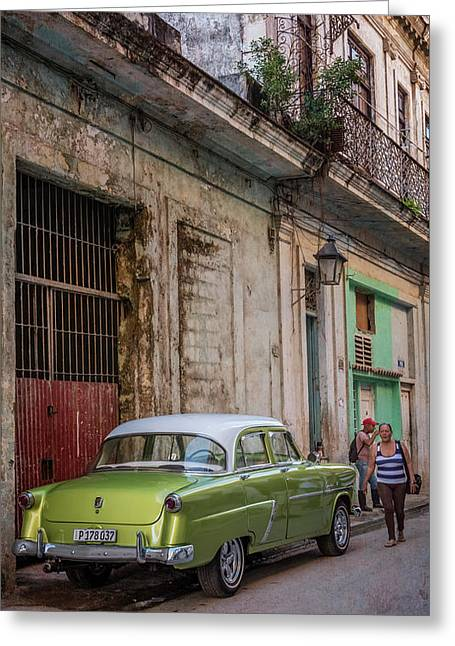 Havana Street Scene Greeting Card