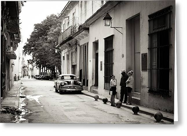 Havana Street, Study V, Cuba Greeting Card by Ralf Martini