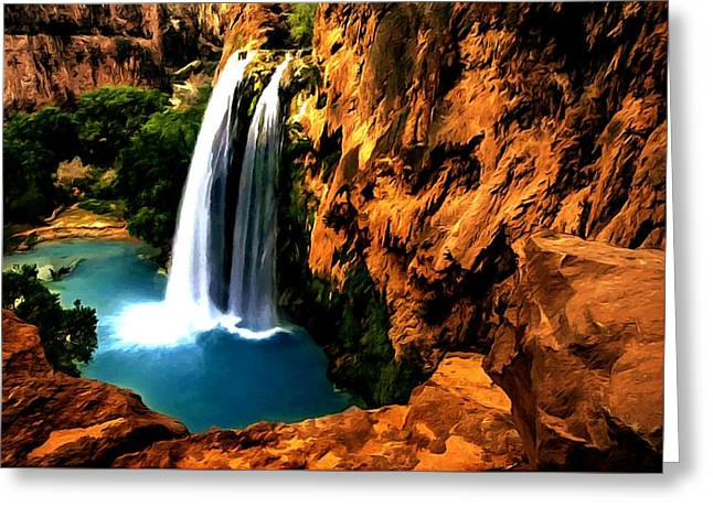 Havasu Waterfall Greeting Card