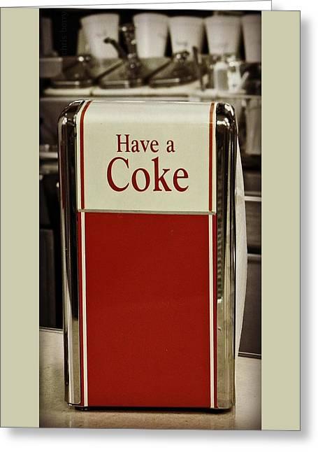 Coca Cola Napkin Dispenser Greeting Card
