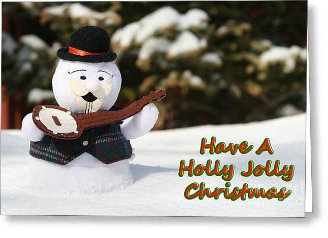 Have A Holly Jolly Christmas Greeting Card by Deborah A Andreas