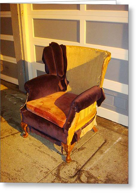 Greeting Card featuring the photograph Have A Seat In Dore Alley by Mr Photojimsf