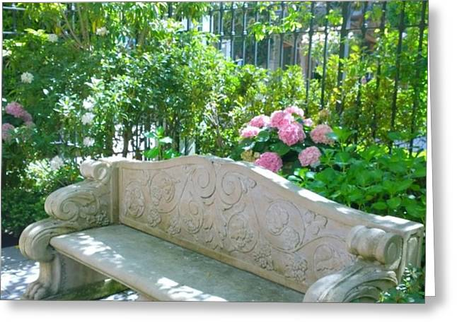 Have A Seat In My Secret Garden. #patio Greeting Card by Shari Warren
