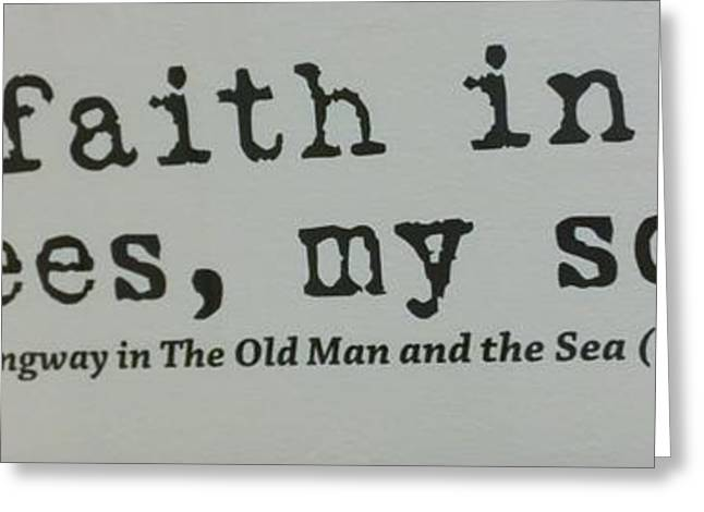 Have Faith In The Yankees My Son Greeting Card by Rob Hans