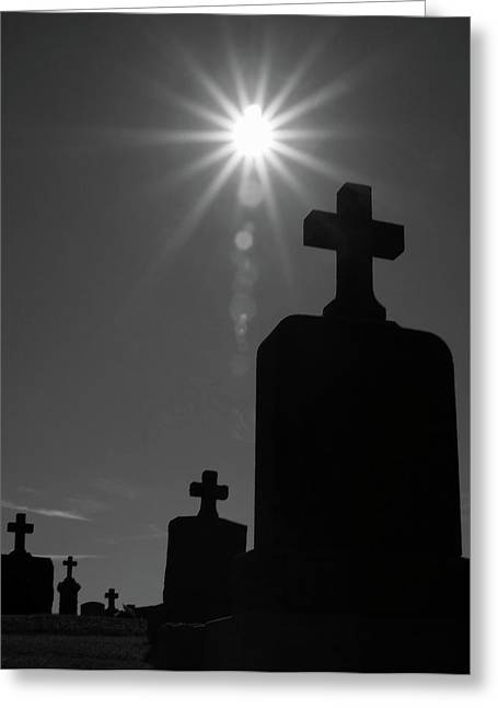 Have Faith...bw Greeting Card by Karol Livote