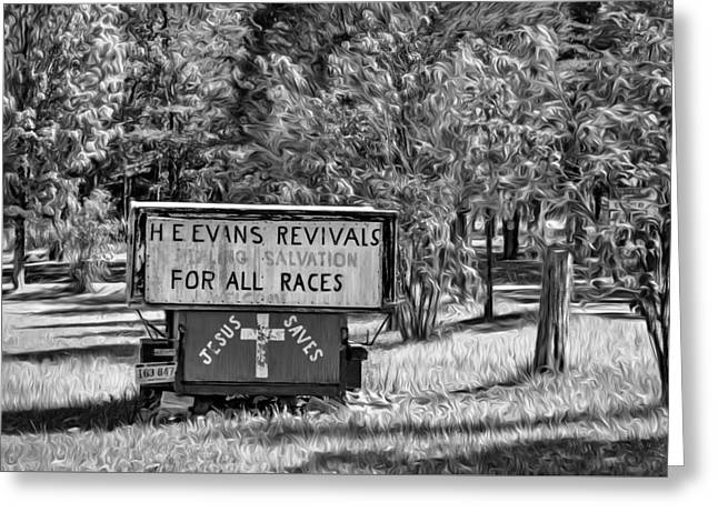 Have Miracle - Will Travel. Paint Bw Greeting Card