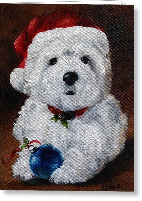 Have Yourself A Merry Little Christmas  Greeting Card by Mary Sparrow
