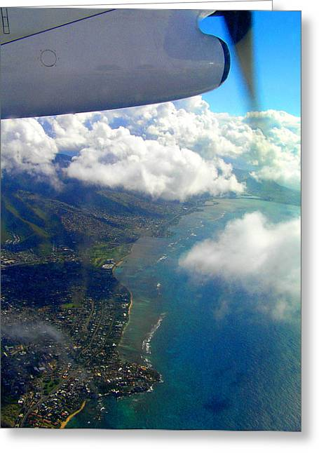 Hawaii Aerial View Greeting Card