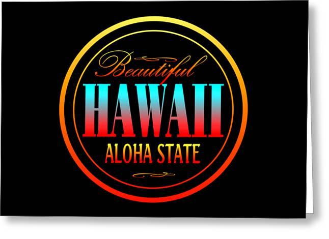 Hawaii Aloha State Design Greeting Card