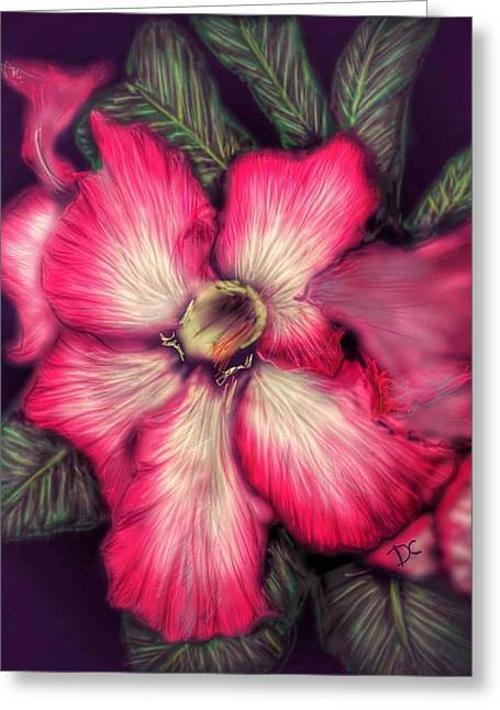Greeting Card featuring the digital art Hawaii Flower by Darren Cannell