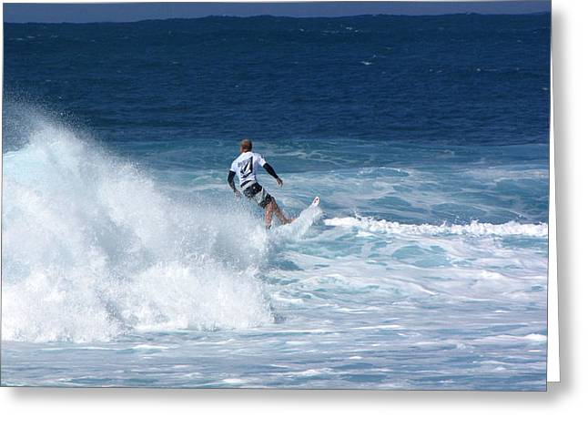 Hawaii Pipeline Surfer Greeting Card by Sarah Houser