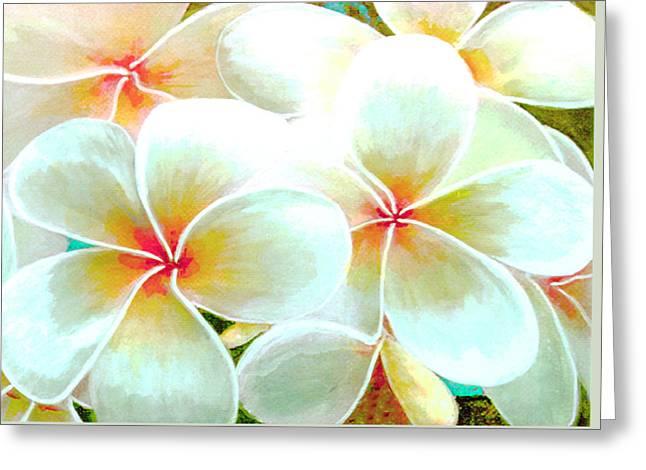 Hawaii Plumeria Frangipani Flowers #86 Greeting Card by Donald k Hall