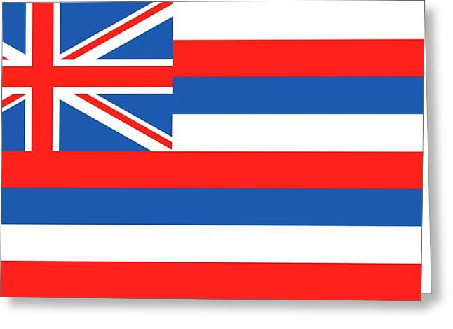 Hawaii State Flag Greeting Card by American School