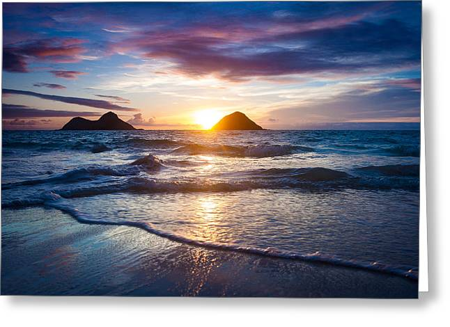 Hawaii Sunrise Greeting Card by Robert Davis