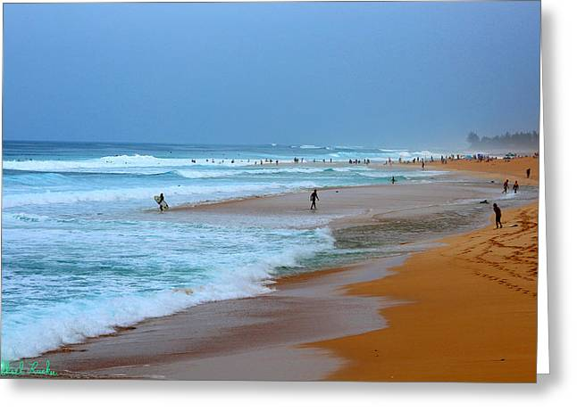 Hawaii - Sunset Beach Greeting Card by Michael Rucker