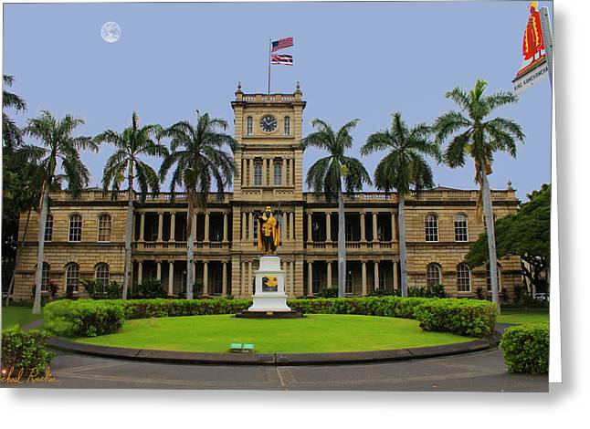 Hawaii Supreme Court Greeting Card by Michael Rucker