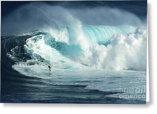 Hawaii Surfing Jaws 1 Greeting Card