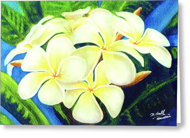 Hawaii Tropical Plumeria #158 Greeting Card by Donald k Hall