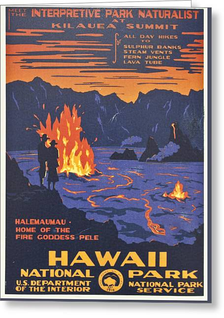 Hawaii Vintage Travel Poster Greeting Card