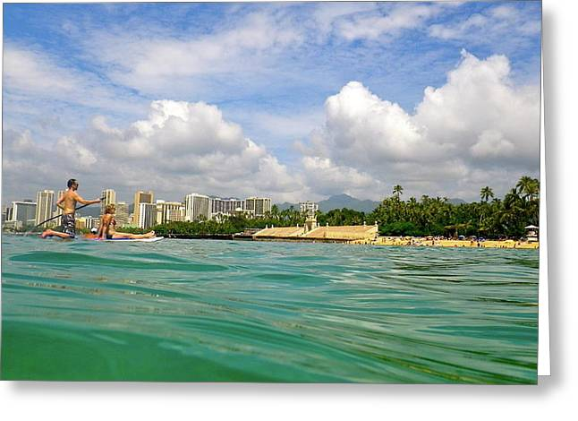 Hawaii Winter Dream Greeting Card by Erika Swartzkopf