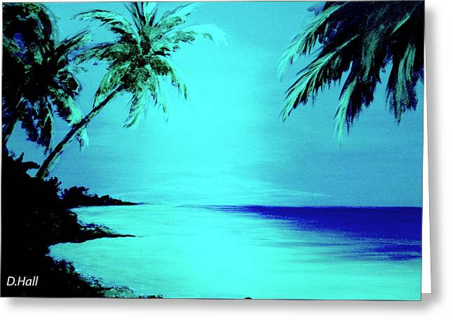 Hawaiian Beach Art Painting #188 Greeting Card by Donald k Hall