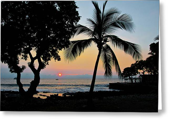 Hawaiian Big Island Sunset  Kailua Kona  Big Island  Hawaii Greeting Card