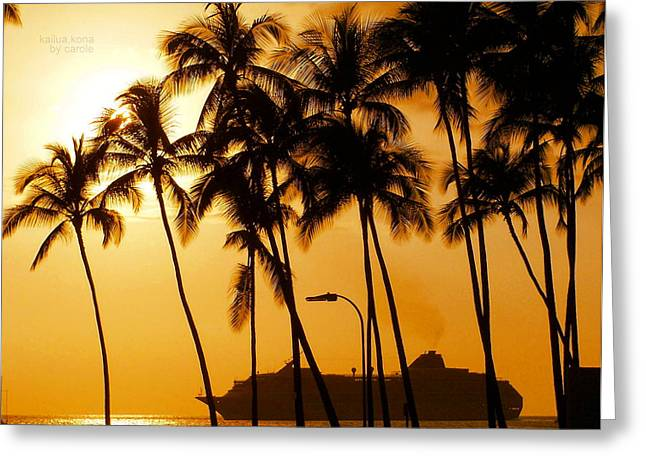 Hawaiian  Cruise Greeting Card by Athala Carole Bruckner