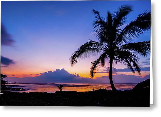 Hawaiian Dawn Colors Greeting Card
