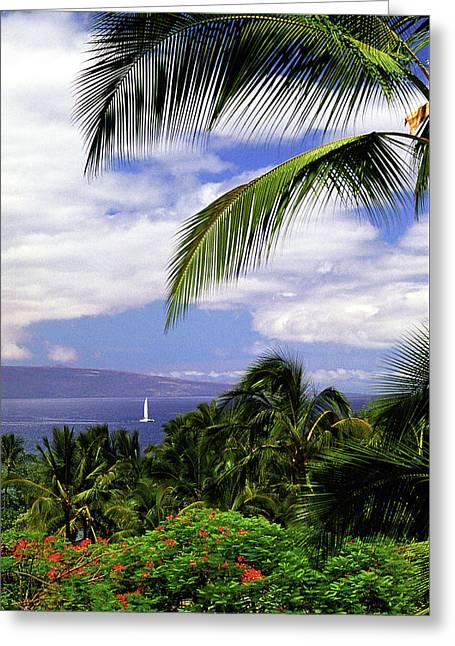 Hawaiian Fantasy Greeting Card by Marie Hicks